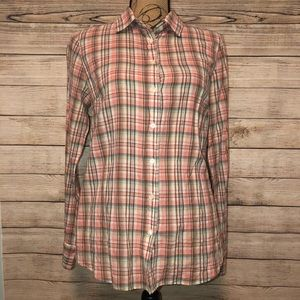 J. Crew 'The Perfect Shirt' Plaid Long Sleeve XS